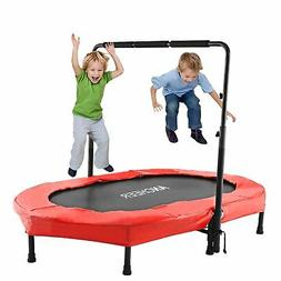 ANCHEER Mini Rebounder Trampoline with Adjustable Handle for