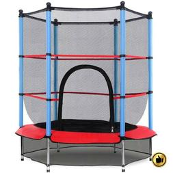Mini Trampoline Kids Small Outdoor Toddler Child Safety Net