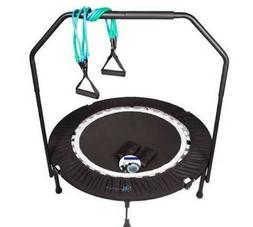 MaXimus Mini Trampoline Rebounder Jump w/ Bar Bag Band Fitne