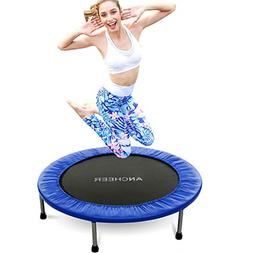 ANCHEER Mini Trampoline with Safety Pad Blue, 40inch-Not Fol