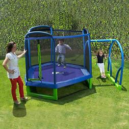 Bounce Pro My First Jump 7-Foot Sturdy Trampoline and Swing,
