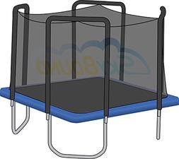 Net for 13ft x 13ft Trampoline Enclosure using 4 Arches and
