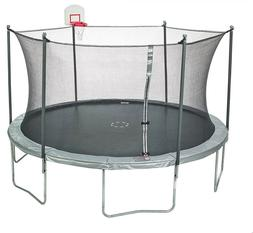 new 15 ft round trampoline with enclosure