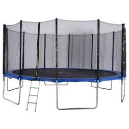 New 16FT Trampoline Combo Bounce Jump Safety Enclosure Net W