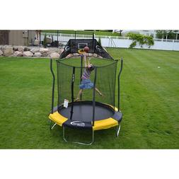 NEW! PROPEL 7′ Enclosed Trampoline with Basketball Hoop