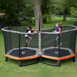 NEW Bounce Pro Battle Zone Two 8/14-Foot Trampoline with Saf