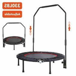 NEW Mini Foldable Trampoline With Bar Urban Rebounder Bounci