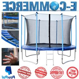 New Round Trampoline With Safety Enclosure Net & Pad Inside