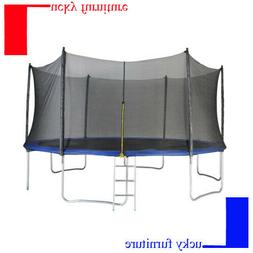 Merax Outdoor 15FT Round Trampoline with Enclosure W/ 96PCS