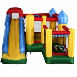 Outdoor Inflatable Kids Bounce House Playhouse Castle Trampo