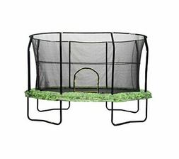 JumpKing Oval 8' x 12' Trampoline with Fern Graphic Pad, Box