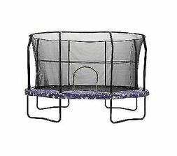 JumpKing Oval Trampoline with American Stars Graphic Pad, 9'
