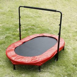 Parent-Child Trampoline Twin Trampoline with Safety Pad Adju