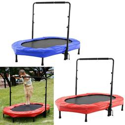 Parent-Child Trampoline Twin Trampoline w/Safety Pad Adjusta