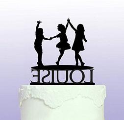 Personalised Trampoline Party Cake Topper