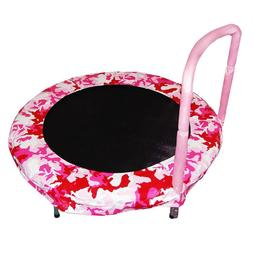 Pink 48 in. Camo Bouncer Trampoline with Rust Resistant Galv