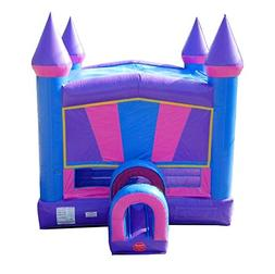 Pink, Purple and Blue Bounce House, 14-Foot Long by 13-Foot