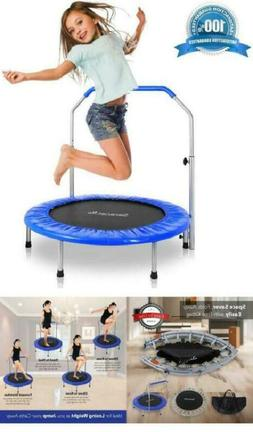 """Portable  Foldable Trampoline 36"""" In Home Mini Rebounder Fit"""