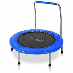 "Portable "" Foldable Trampoline Cardio Trainer With Handle Pa"