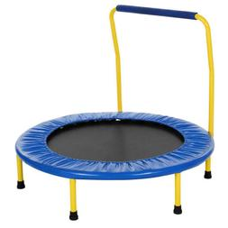 "Kids 36"" Round  Mini Child's  Trampoline Mat w/ Enclosure Ha"