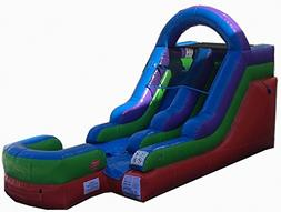 12-Foot Retro Inflatable Water Slide, Wet or Dry, Commercial