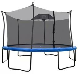 Propel Round 14' Trampoline with Basketball Goal & Safety En