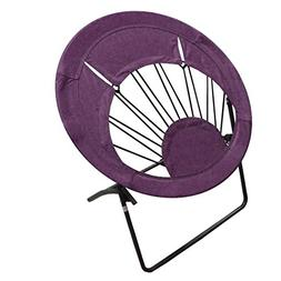 Impact Canopy Bungee Chair, Round Portable Folding Chair, Pu