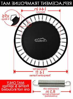 """SkyBound 144"""" Round Trampoline Mat w/ 96 V-Rings, Fits 14 ft"""