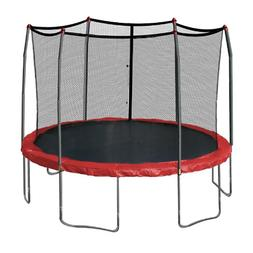 Skywalker 12-Feet Round Trampoline Enclosure, Red