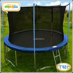 ZUPAPA ROUND 15FT TRAMPOLINE FRAME SAFETY ENCLOSURE SPRING P