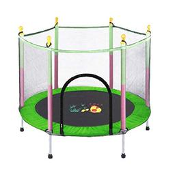 Trampolines 55 Inches Safety Fitness with Pad, Portable Trai