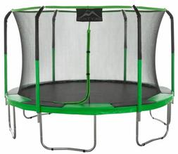 SKYTRIC 11 ft. Trampoline with Top Ring Enclosure System wit