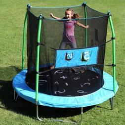 Skywalker 7.5' Trampoline with Enclosure Combo and Bonus Gam