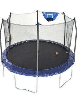 NEW Skywalker 12-Foot Jump N' Dunk Trampoline with Enclosu