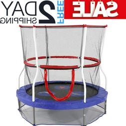 Small Indoor Trampoline For Kids Toddlers Net Enclosure Outd