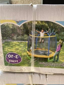 SPORTSPOWER 7-Foot My First Trampoline Hexagon Ages 3-10 for