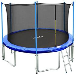 Zupapa 15FT 14FT 12FT TUV Approved Kids Trampoline with Encl