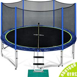 Zupapa 15 14 12 FT TUV Approved Trampoline with Enclosure ne