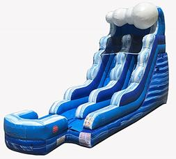 15-Foot Tall, 24-Foot Long Blue Marble Tidal Wave Inflatable