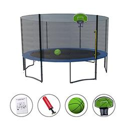Exacme 13FT Trampoline with Safety Pad,Enclosure Net,Ladder