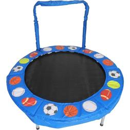 Trampoline 4 Foot Bouncer for Kids Blue Sport Balls Play Out