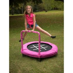 Trampoline Bouncer 4-Foot for Kids Pink Exercise Garden Back