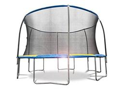 Bounce Pro 12' Trampoline with Flash Light Zone and Enclosur