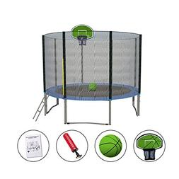 Exacme 10FT Trampoline with Safety Pad,Enclosure Net,Ladder
