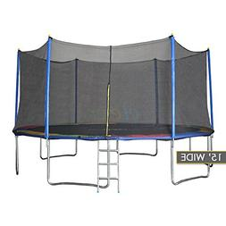 New Clevr 15' Trampoline with Enclosure Bounce Jump Safety S