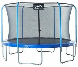 SKYTRIC Trampoline with Top Ring Enclosure System equipped w
