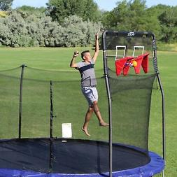 Trampoline Basketball Game Double Hoop Attachment to 5-Foot