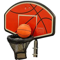 JumpKing Trampoline Basketball Hoop with Attachment and Infl