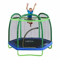 New Clevr 7FT Trampoline Bounce Jump Safety Enclosure Net W/