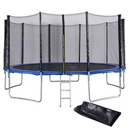 Giantex 15 FT Trampoline Combo Bounce Jump Outdoor Trampolin